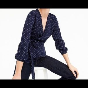 J. Crew women's wrap blouse